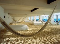 Perfect - hammocks and beach beds in the shade!