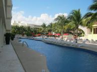Swim-up suites in luxury building