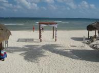 Smaller, not as private, beach wedding gazebo