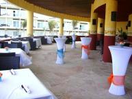 Zocalo Restaurant - set up for reception