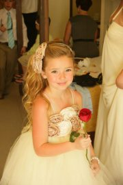 Chloe - proud flowergirl